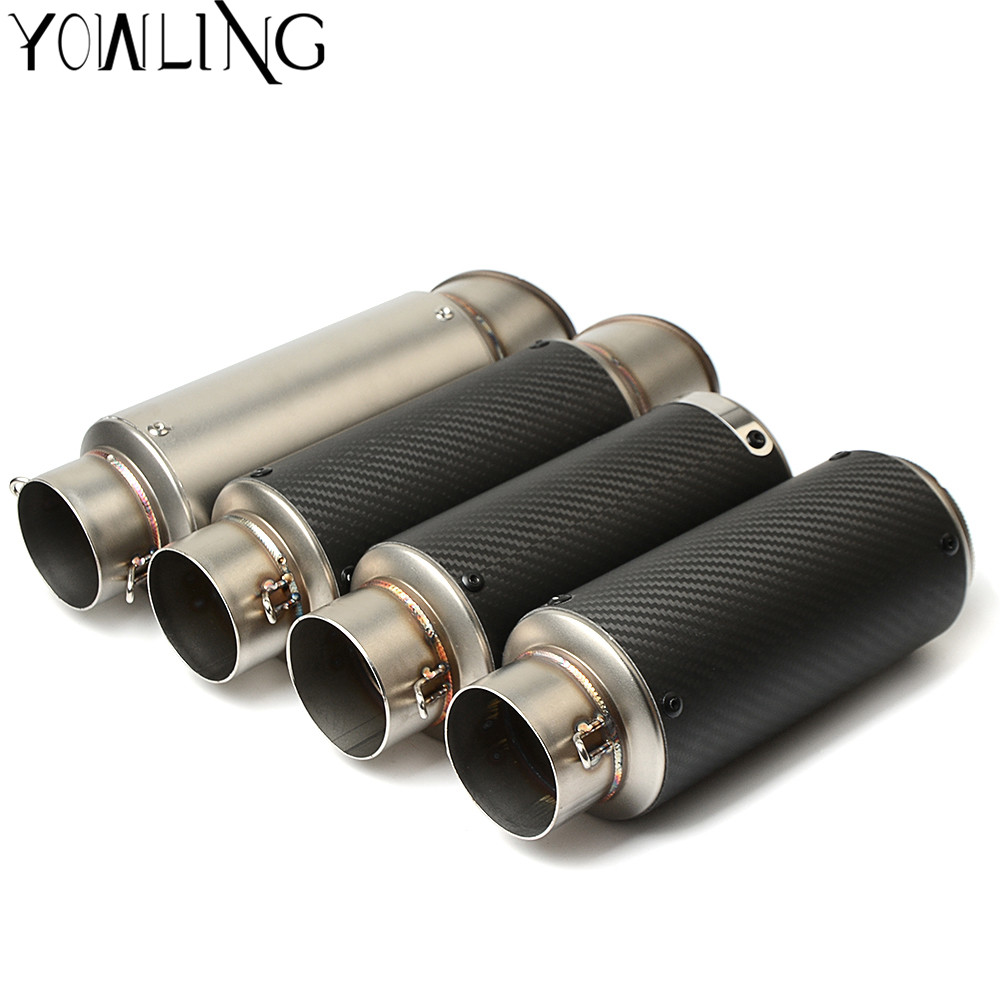 Motorcycle modified muffler carbon fiber exhaust pipe For Ducati MONSTER 400 620 695 696 796 821 1100 1200 749 Dark 620 Sport