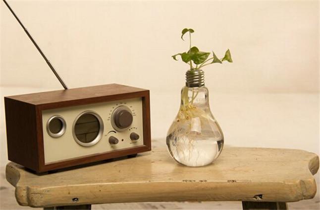 Kreativní žárovka z čirého skla váza moderní módní hydroponické květinové vázy dekorace váza