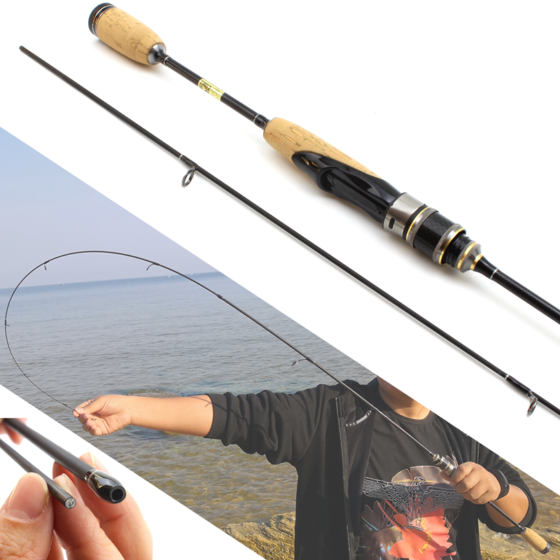 Promotion! 1.8M wooden handle lure rod Ultra light Spinning fishing rod 2-6g  Lure Weight 3-7lb line weigh carbon rod ul power