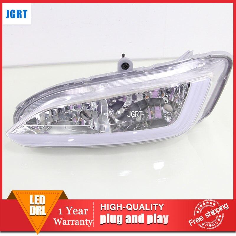 car styling 2013-2015 For Hyundai IX25 LED DRL For IX25 led fog lamps daytime running light High brightness guide LED DRL