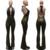HAOYUAN Bodysuit Mulheres Sexy Sem Mangas Backless Jumpsuit Macacões Bandage Stripe Fatos Para Brincar E Macacões Macacão de Lantejoulas de Ouro