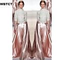Autumn Wide Leg Long Pants Skirts Womens Runaway Plus Size XXS-7XL Shining Trousas Solid Pink Woman Maxi Flare Skirt Pant 2016