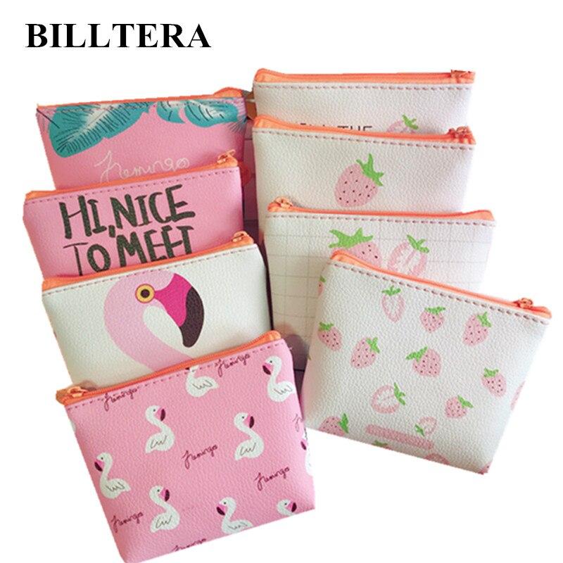 Reasonable Etya Small Leather Coin Wallet Purse For Women Children Cute Bird Strawberry Mini Zipper Key Money Change Holder Bags Kids Gift Coin Purses & Holders