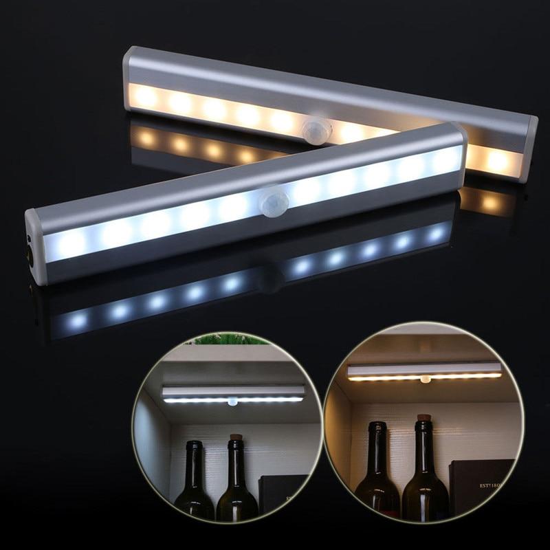 10LED USB Rechargeable Motion Sensor Night Light 1
