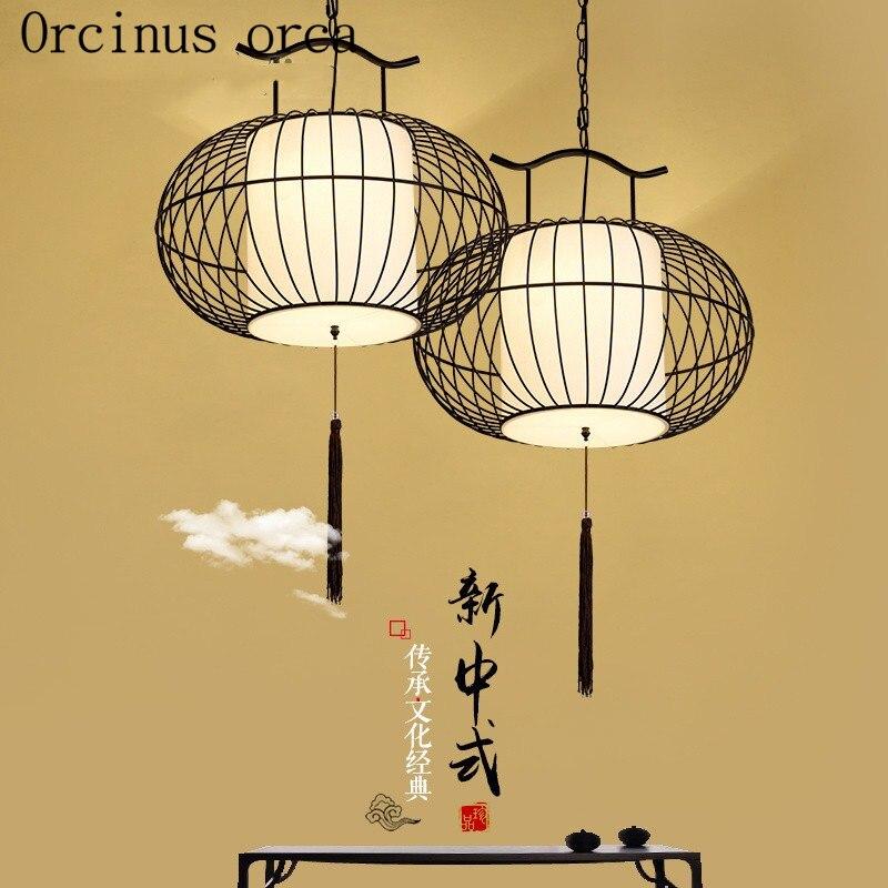 Nový čínský styl klec lampa kreativní osobnosti čínském stylu restaurace
