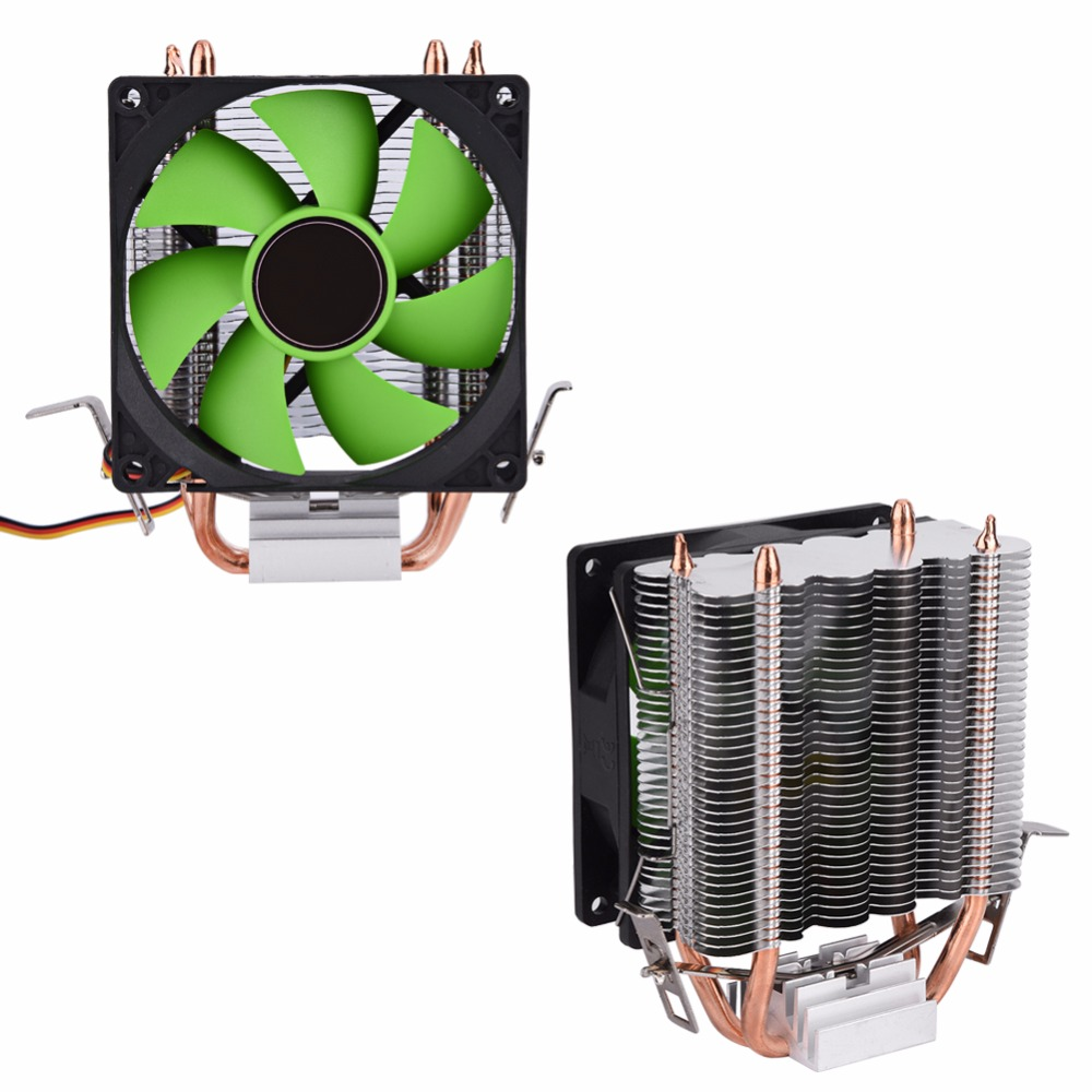 90mm 3Pin Quiet Fan CPU Cooler Heatsink Speed Up to 2100 RPM Cooling Mute Fans for Intel LGA775/1156/1155 AMD AM2/AM2+/AM3 CPU akasa 120mm ultra quiet 4pin pwm cooling fan cpu cooler 4 copper heatpipe radiator for intel lga775 115x 1366 for amd am2 am3
