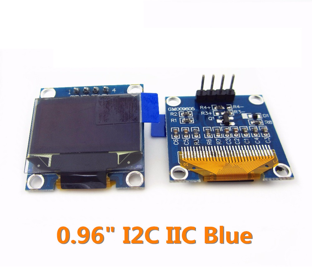 1pcs 128X64 Blue/white OLED LCD LED Display Module 0.96 I2C IIC SPI Serial 128*64 0 96 inch yellow blue dual color oled display 12864 lcd screen module spi iic 3 3 5v interface