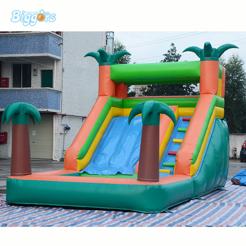 inflatable tropical water slide with pool inflatable water pool slide inflatable pool slide funny water slide combo dual slides