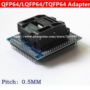 Image 3 - Adaptador de enchufe QFP64 TQFP64 LQFP64, zócalo de prueba de circuito integrado, programador de 0,5 m, toma STM32 QFP64, Envío Gratis
