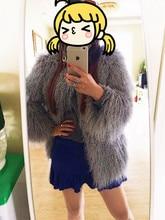 2015 Fashion Women Sheep Skin Fur Coat / Curly Lamb Fur Coat