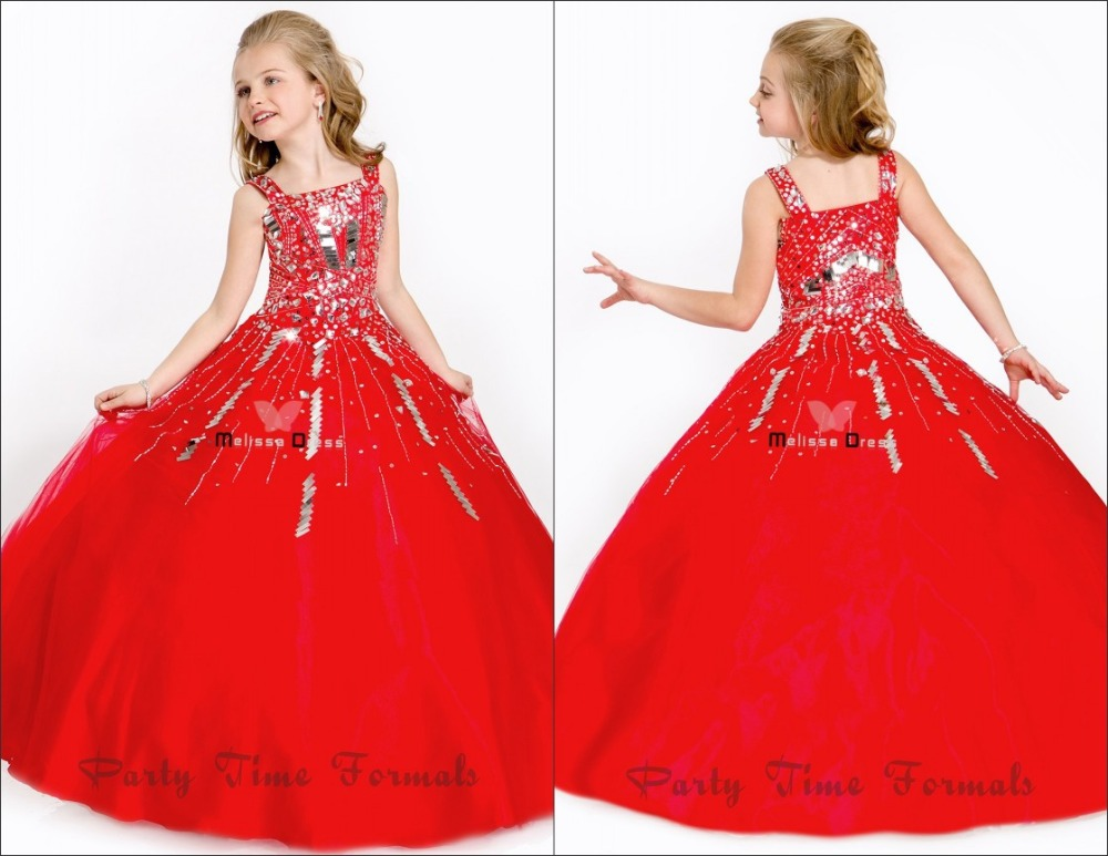 Ball Gowns Sequins Crystal Hot Red Green Floor Length Dresses For ...