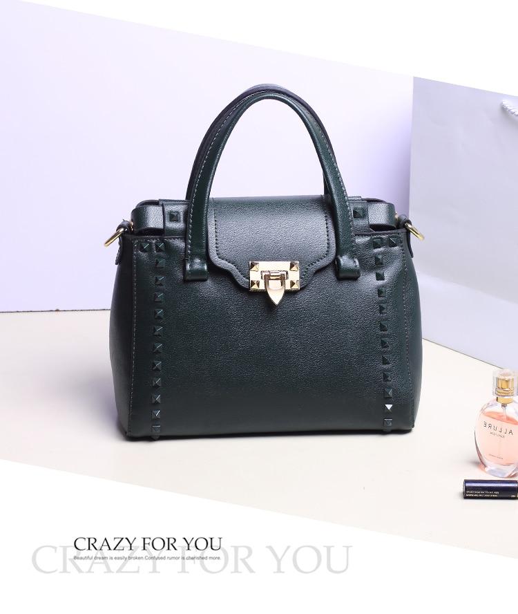 messenger bag New fashion Rivet women shoulder handbag PU leather Crossbody bag designer vintage women mini chain messenger bag