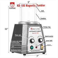 KD 100 Magnetic Tumbler Polishing Machine Mini Magnetic Jewelry Polisher Tumbler Jewelry Tools Final Polishing Variable Spee