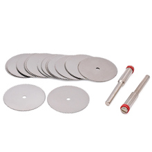 12pcs Mini Circular Saw Blade Cutting Tools Wood Working For Dremel Accessories Saw Blades with 2pcs Shank