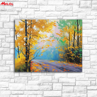 Wall Art Forest Highway Landscape Painting Painting For Living Room Home Decoration Oil Painting On Canvas