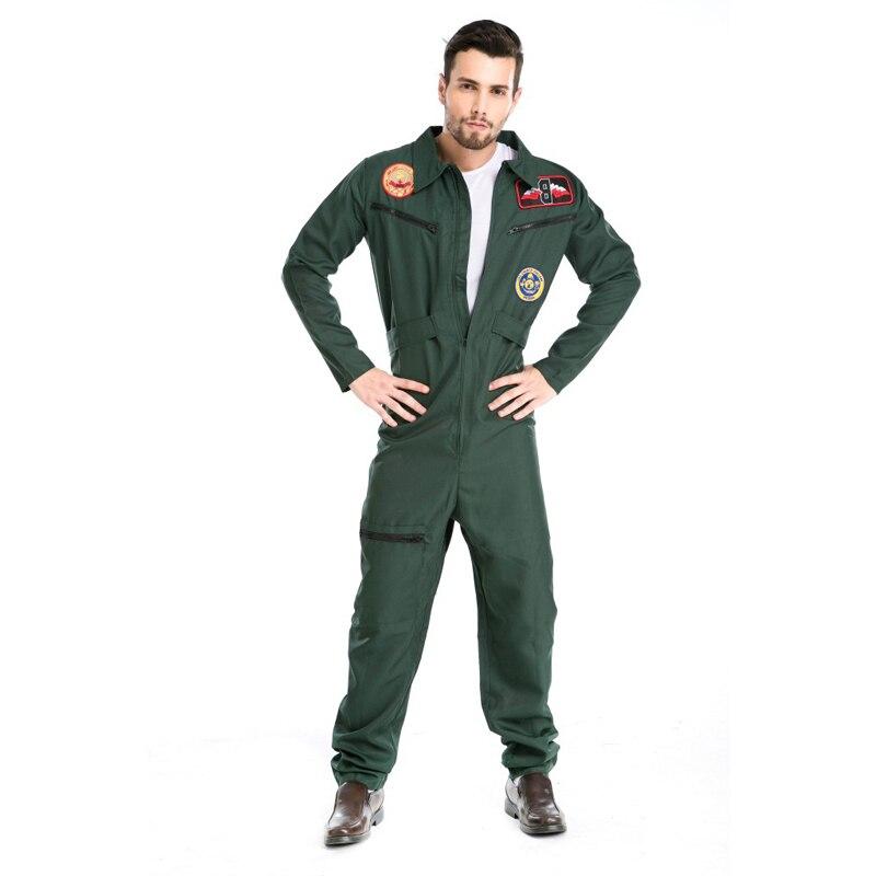 Top Gun Fighter Pilot 80's Maverick Aviator Fancy Dress Costume