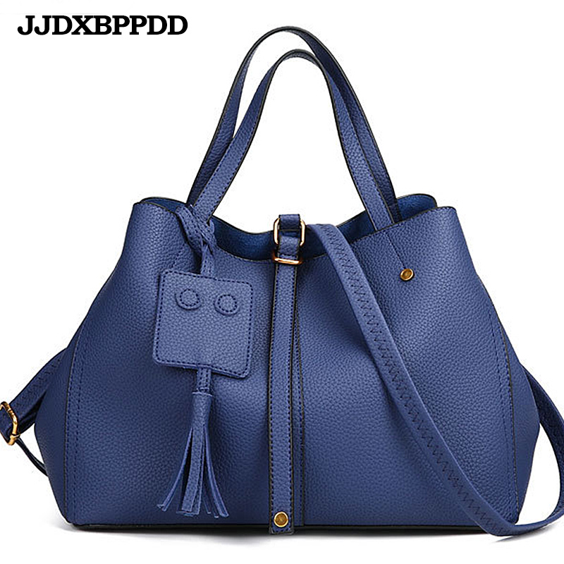 2018 Female Brand Blue Black Hand Bag Woman Hobos Bags