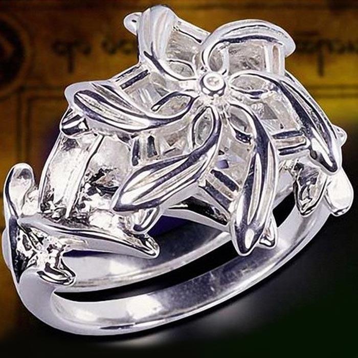 LOTR of The ring Galadriel Nenya Zircon 5A Zircon stone 925 Soild