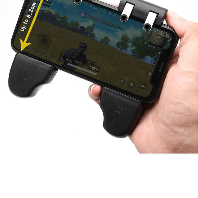 Six-finger linkage Gaming Trigger Gamepad L1R1 Shooter Controller with Cooling Fan Mobile Game Fire Button For iphone Android