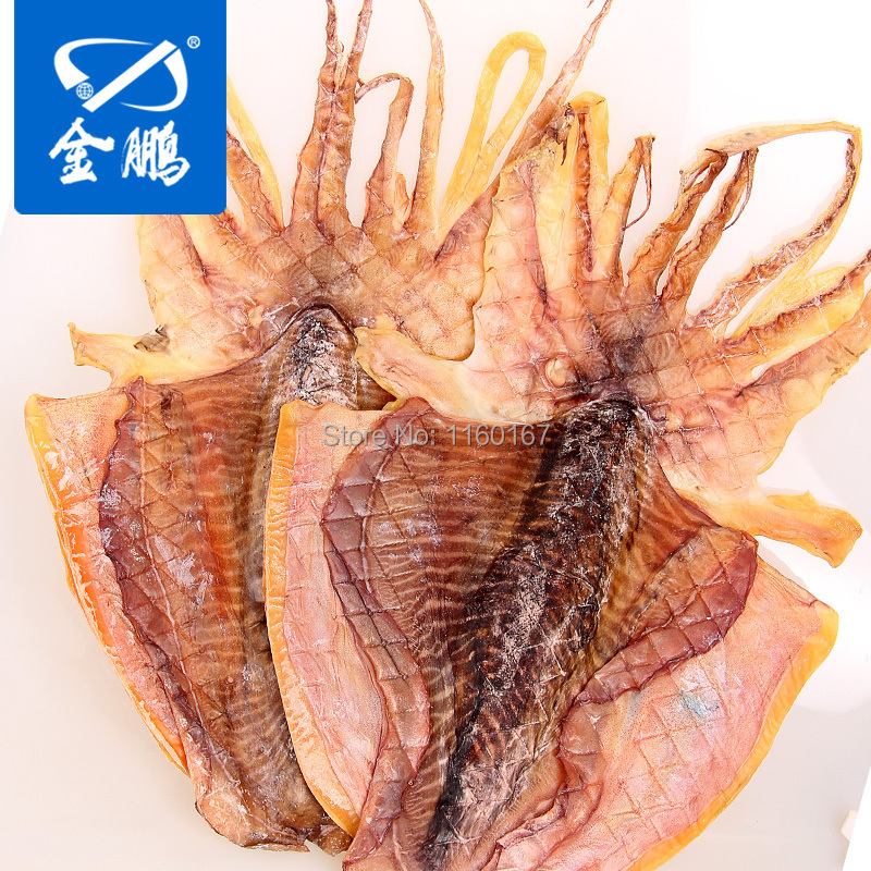 Jinpeng Large Wild Pale Sun Dried Squid Deep-sea Squid Head Dried Fish Dried Seafood Short Dry Cuttlefish Dry 500g