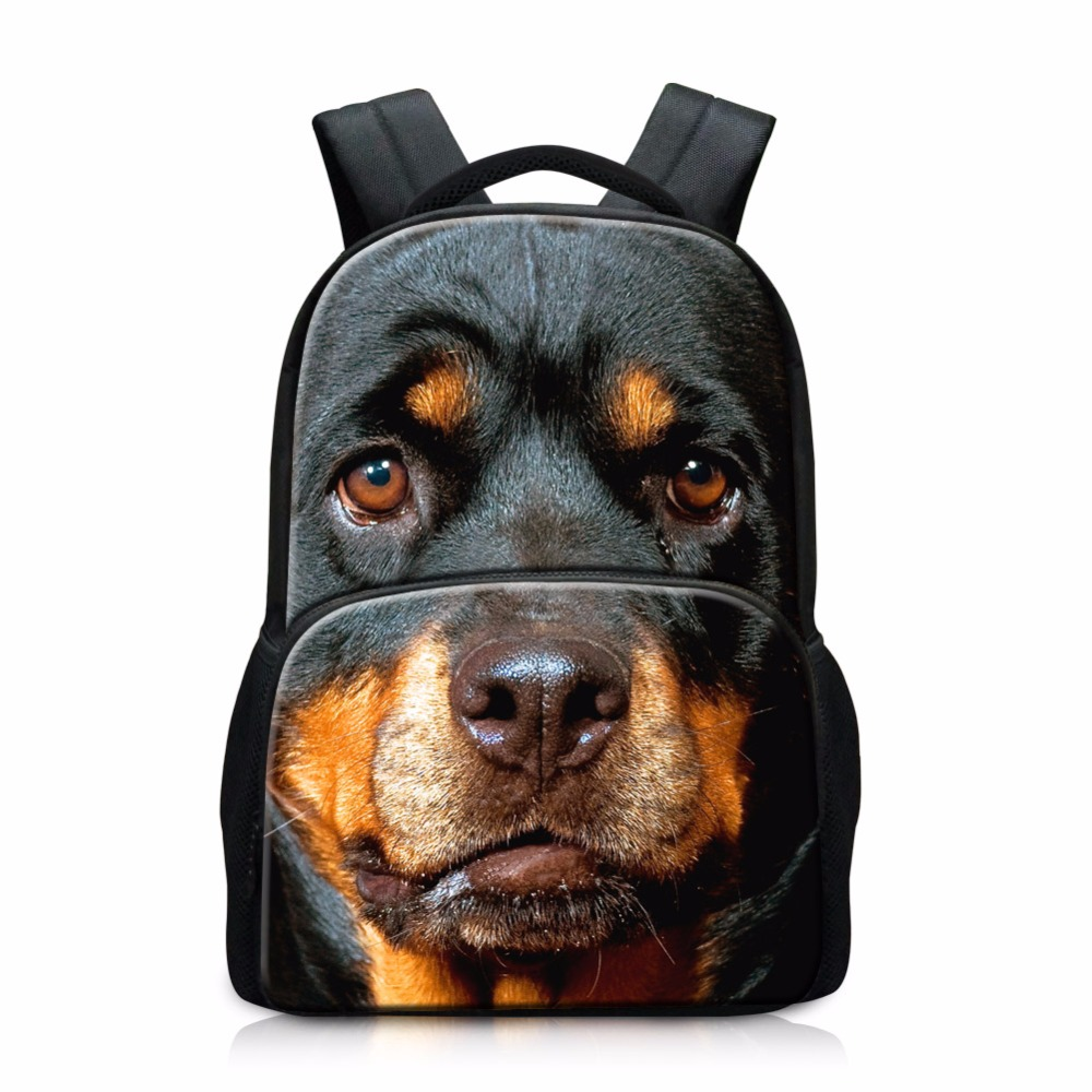 Teenagers School Bags Animal Dog Pattern Cool Backpacks for Boys Wolf Schoolbags Book Bags for Girls Tiger Owl Laptop back pack