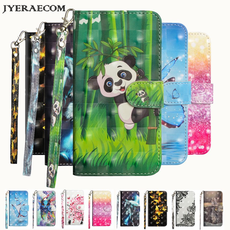 JYERAECOM <font><b>Flip</b></font> PU Leather + Wallet Cover <font><b>Case</b></font> For Coque <font><b>Huawei</b></font> P20 Lite / P20 Pro Y3 2017 Y5 Y6 <font><b>2018</b></font> <font><b>P</b></font> <font><b>smart</b></font> <font><b>Case</b></font> image