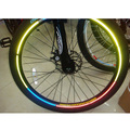 Bicicleta Reflectante Sticker opciones 5 colores 5 paquetes/porción