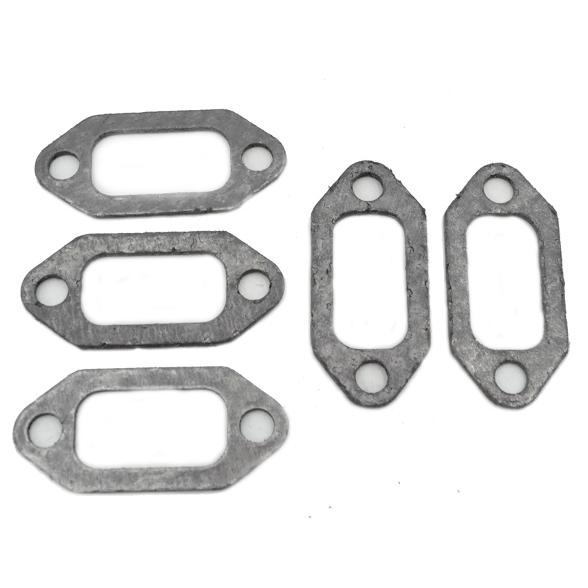 5PCS Exhaust Muffler Gasket Kit Fits Husqvarna 61 66 162 266 268 272 Chainsaw Spares Replaces Parts 503405401