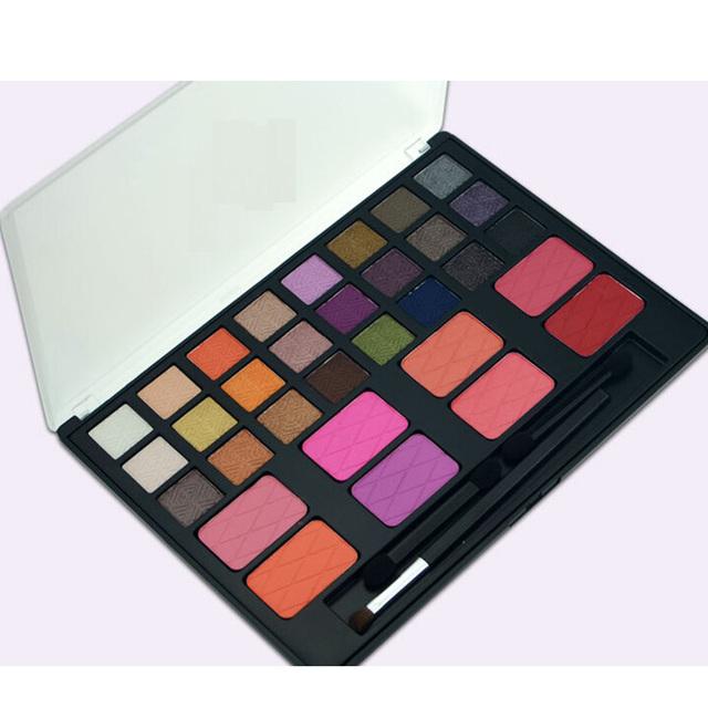 New Professional 32 cores paleta de sombra mulheres cosméticos sombra Blush Maquiagem com escova