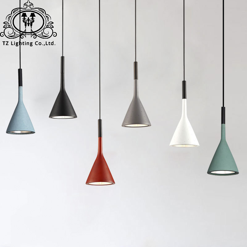 TZ Modern Simple Resin Pendant Lamps Dining Room Living Room Bedroom Study  E14 Hanging Lighting Decorative Fixture Lighting