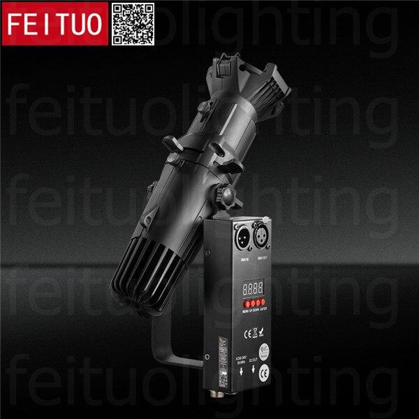 New 2 X Lot DMX / Wireless Remote Control 20w Mini Led Lekos Black / White Die Casting WW / CW / 2in1 Led Leko Light For Gallery