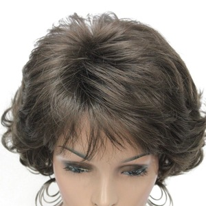 Image 4 - StrongBeauty วิกผมสังเคราะห์สั้น Curly ผมสีบลอนด์/Auburn วิกผมผู้หญิง