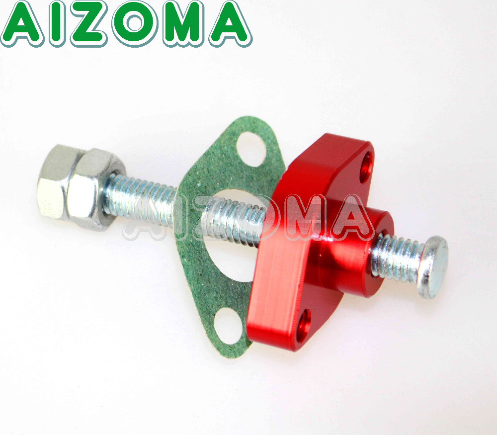 For Kawasaki Manual Cam Timing Chain Tensioner Red Fit VN750 VN1500 VN1600  Classic KZ ZX600 ZR ZX 1100 1200 Vn1600d Nomad 84 05-in Covers & Ornamental  ...