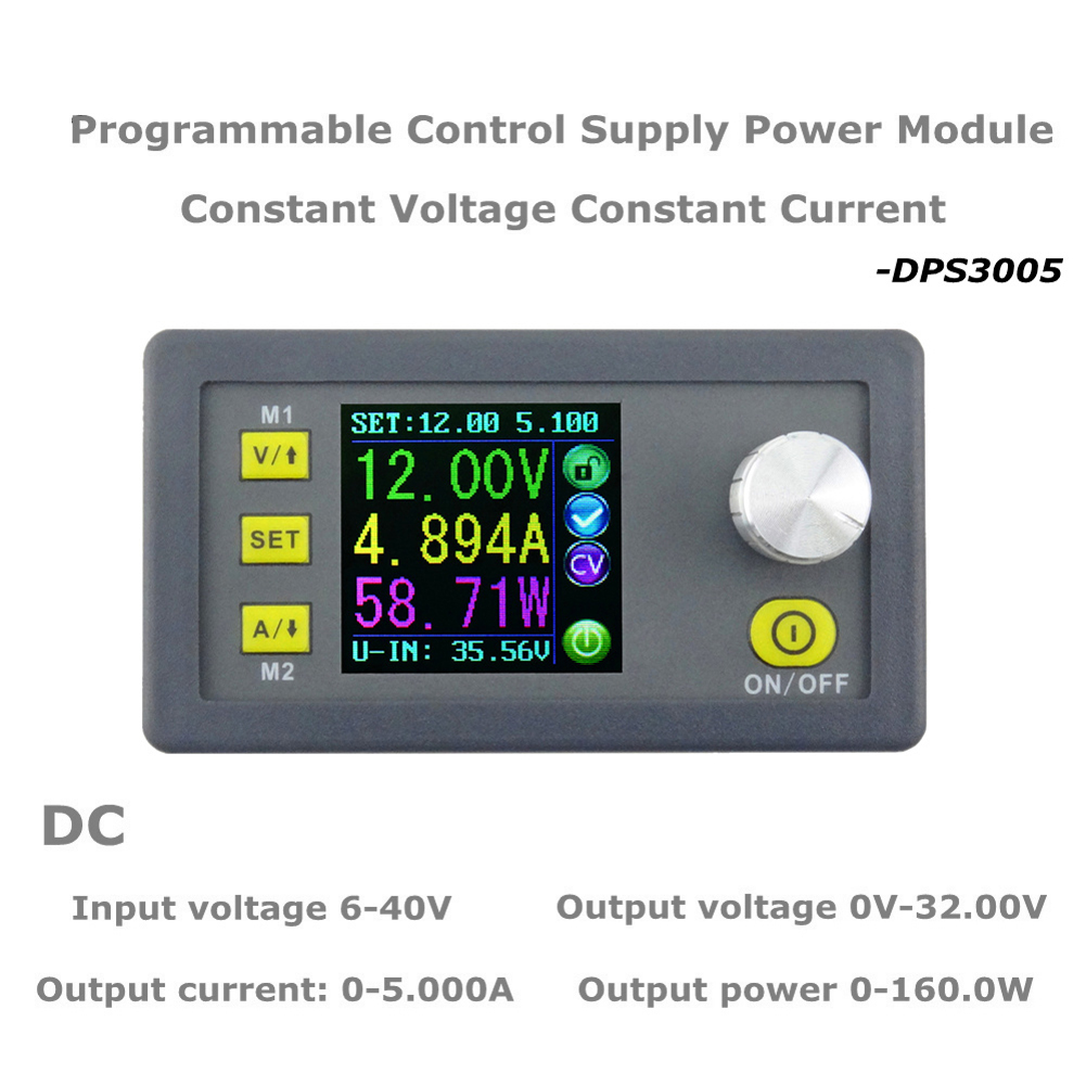 RD DPS3005 Constant Voltage current Step-down Programmable Power Supply module buck Voltage converter color LCD voltmeter digital color lcd display dp50v5a power supply module buck constant voltage current step down programmable 20