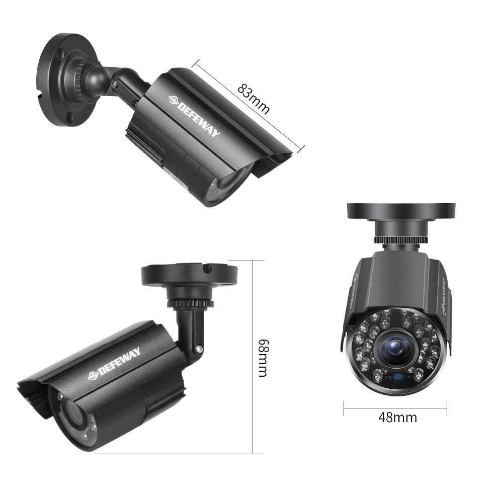 Système de caméra de sécurité de Surveillance extérieure de défaiway 1200TVL 720 P HD 8 canaux 1080N HDMI CCTV DVR Kit 8CH AHD ensemble de caméra