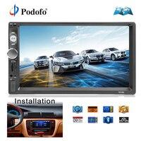 Podofo 2din Car Radio GPS Navigation MP5 Multimedia Player Autoradio Bluetooth AUX MP3 Stereo FM Audio USB Auto Electronic 7010G