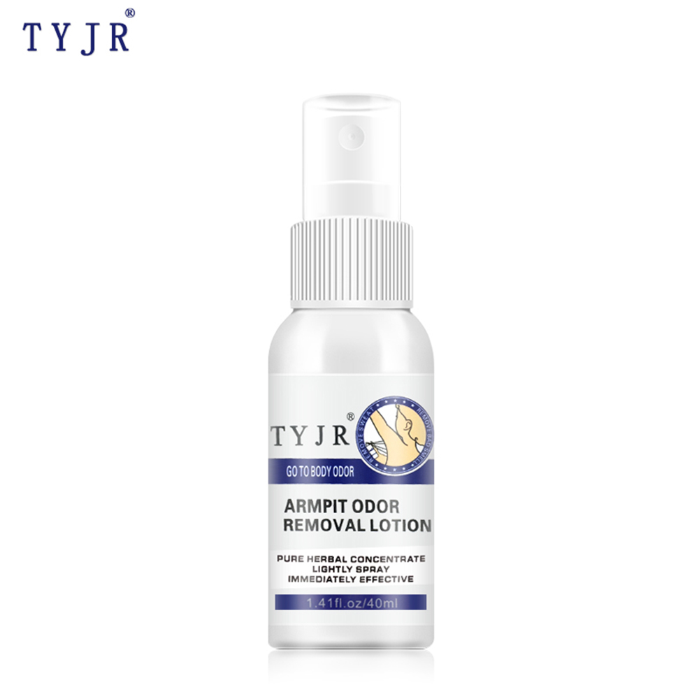 TYJR40ml Herbal Human Body Antiperspirant Underarm Armpit Refresh Body Underarm Essence Remove Odor Water Deodorant Spray TSLM1