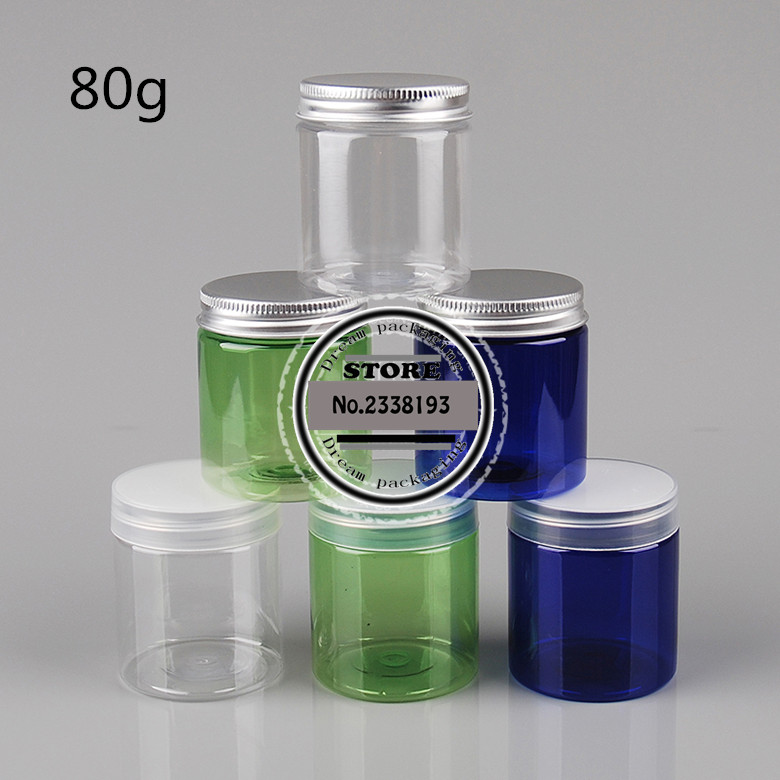 80g X 50 round empty Plastic Cream mask PET bottles jars containers for cosmetic packaging skin