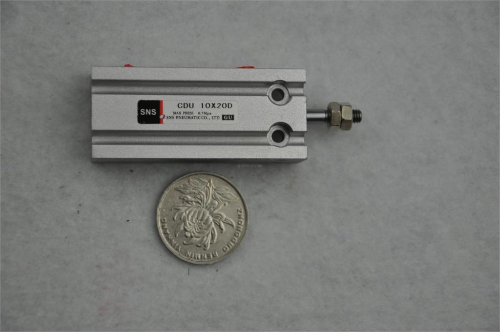 Free mount cylinder SNS Pneumatic Component <font><b>CDU</b></font> series CDU10*20 instead of multi mount SMC type CU10*20 thread M5 with magnet image
