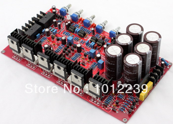 free shipping Assembled 1943/5200 2.1 amplifier board (80W +80 W +100 W) free shipping assembled 1943 5200 2 1 amplifier board 80w 80 w 100 w without six 10000uf capacitance