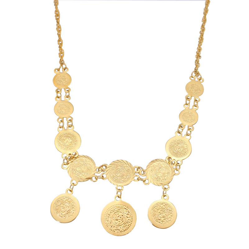 zkd islam muslim Turkey Coins Arab Coins necklace necklace Length 50 cm / 19.7 inch  Turks Africa Party jewerly