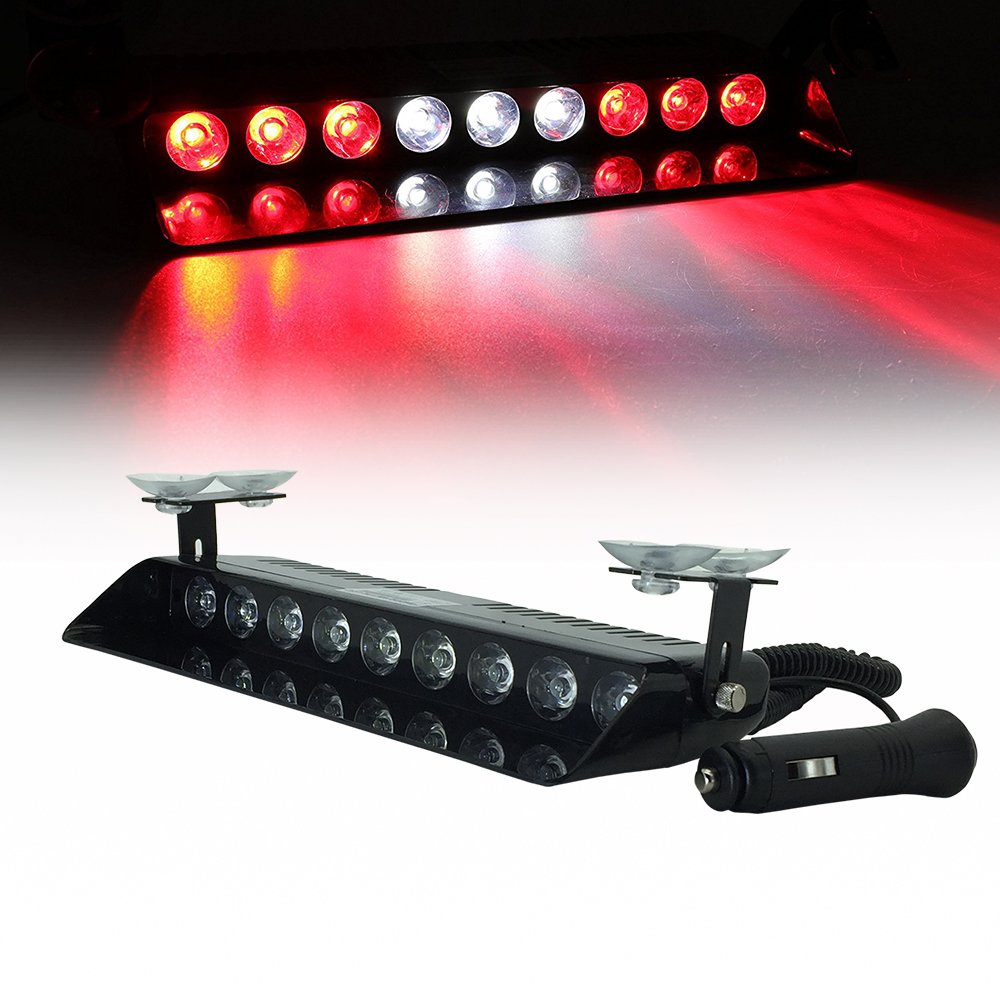 9 LED 12V Car Truck Windshield Dash Emergency Strobe Lights 16 Pattern For Police Law Enforcement Warning LED Flashing Lights