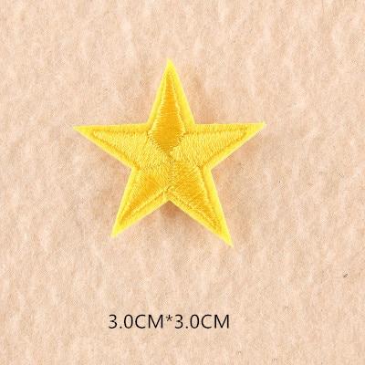 1 шт. смешанные нашивки со звездами для одежды, железная вышитая аппликация, милая нашивка эмблема на ткани, одежда, аксессуары для одежды DIY 61 - Цвет: 61Z3