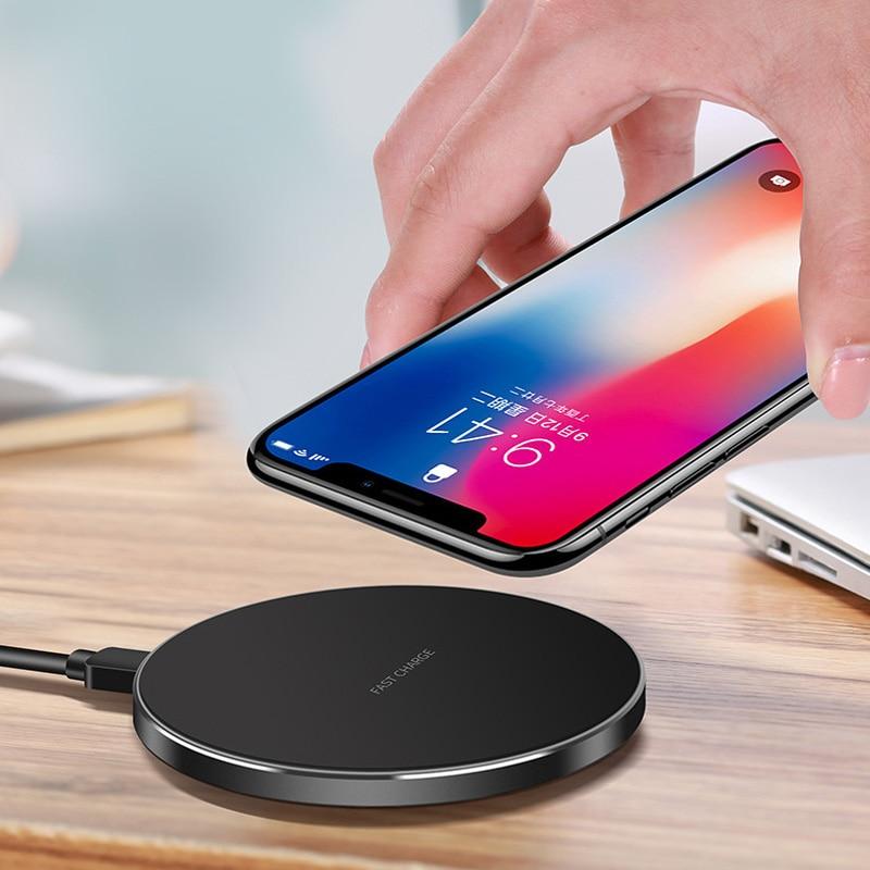 Mobile Qi Sans Fil Chargeur Pour iPhone X 8 plus, rapide Sans Fil Chargeur pour Samsung Galaxy Note 8 S8 S7 bord S6 Qi-Appareils Compatibles