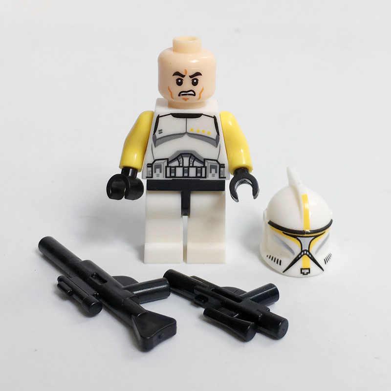 Star Wars Clone Trooper Legiun SW910 SW502 SW492 Komandan Kompatibel Legoe Minifig Blok Anak-anak Natal Tahun Baru Mainan