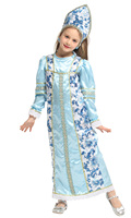 Children's Halloween Christmas Cosplay costume Arab Russian princess dress Purim Party dress
