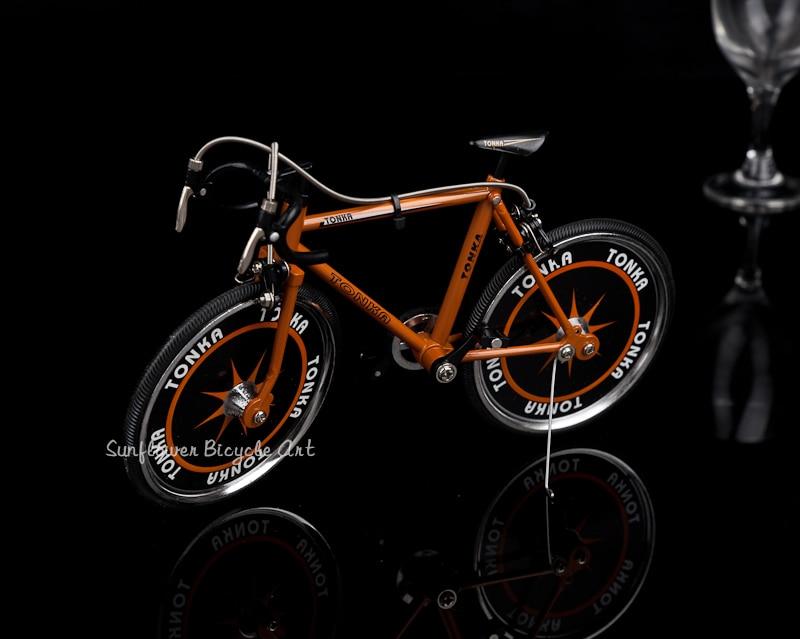 Modèle de vélo en alliage simulé jouets de voiture de course cadeaux de décoration de maison de haute qualité