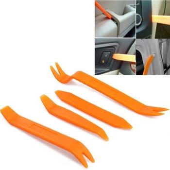 4 sztuk Auto Radio samochodowe Panel drzwi klip wykończenia Dash Audio instalator podważ narzędzie prezent samochód bezpieczeństwa narzędzie tanie i dobre opinie STAINLESS STEEL