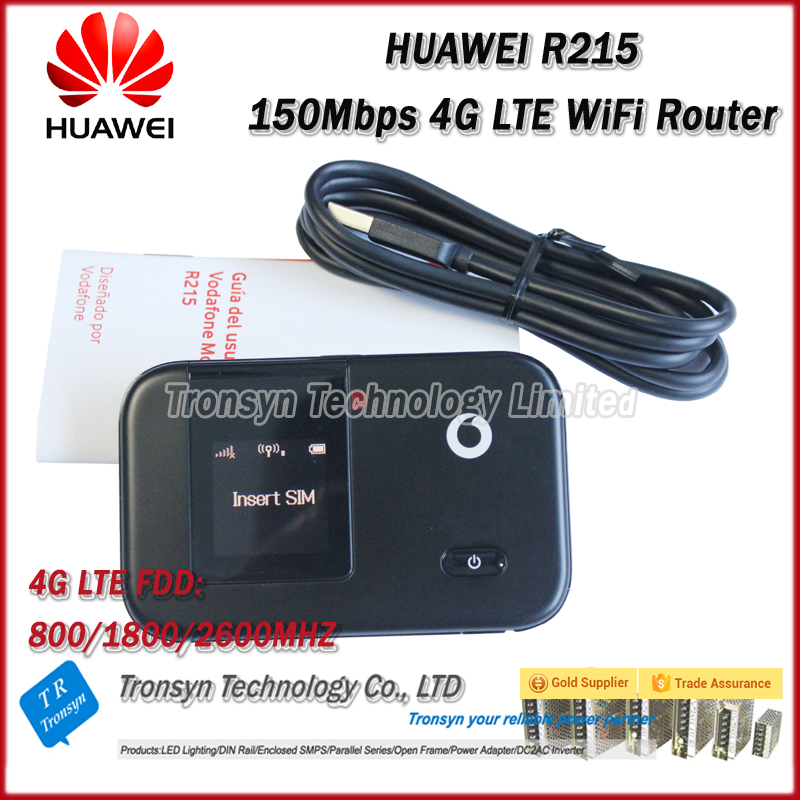 Wholesale Original Unlock LTE FDD 150Mbps Vodafone R215 4G LTE WiFi Router Support LTE FDD 800/1800/2600MHz wholesale original unlock lte fdd 150mbps alcatel one touch y855 4g mifi router support lte fdd 800 900 2100 1800 2600mhz