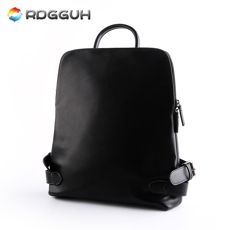 RDGGUH New Fashion Brand Men's Backpack PU Leather Man School Bags For College Black Waterproof Male Travel Laptop Backpacks 2017 new korean man pu leather backpack male new style junior middle school students leisure travel backpack fashion bag